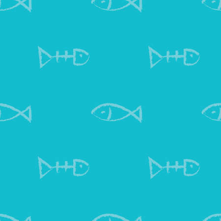 fish bone: Fish bone background Illustration