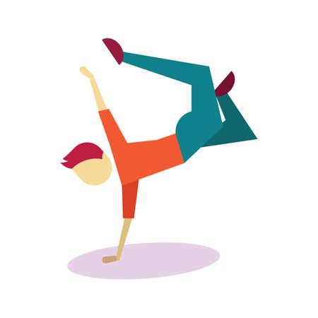 striking: Boy striking dance pose