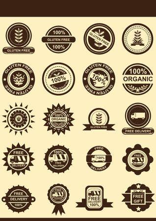 Gluten free badges Иллюстрация