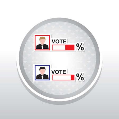 comparison: Voting comparison of two candidates Illustration