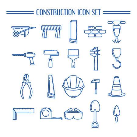pied   � coulisse: Collection d'ic�nes de construction Illustration
