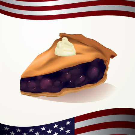 blueberry pie: Slice of pie