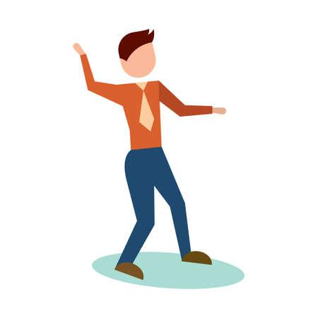 striking: Man striking dance pose