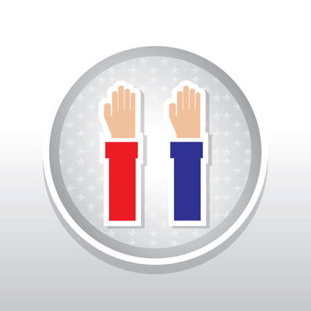 raised hands: Raised hands