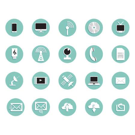 snort: Set of technology icons Illustration