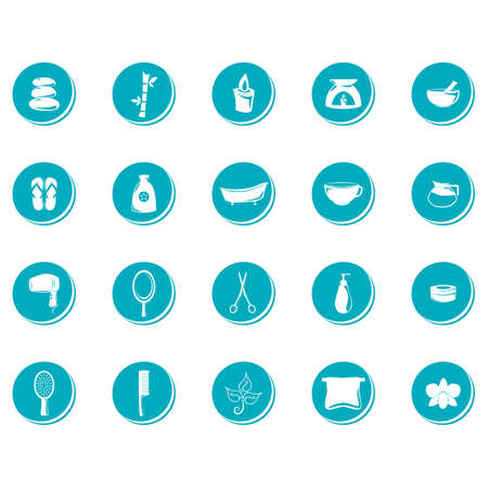 bamboo stick: Set of spa icons