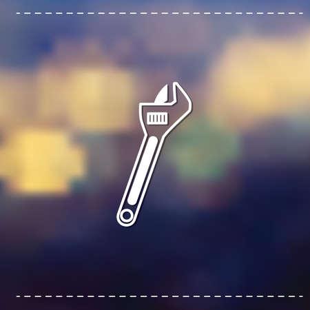 monkey wrench: Adjustable wrench Illustration