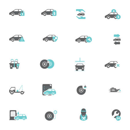 alloy wheel: Set of car icons