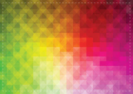 faceted: Colorful faceted background Illustration