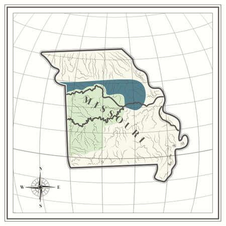 missouri: Map of missouri