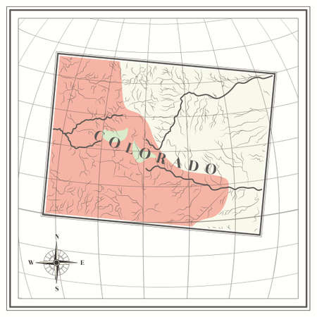 colorado state: Map of colorado state