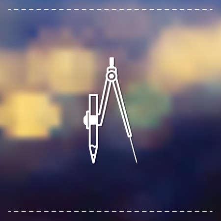 compas de dibujo: Brújula de dibujo