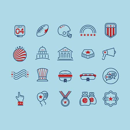 supreme court: USA symbols collection Illustration