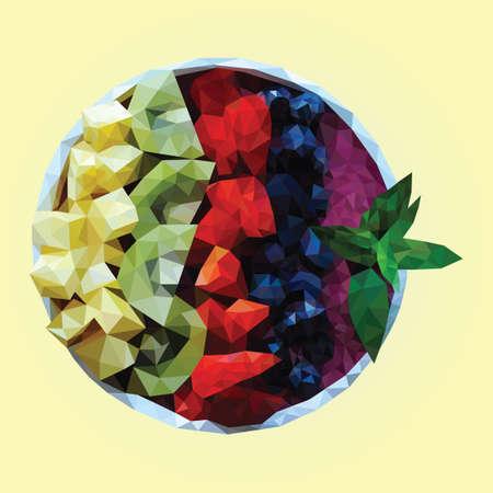Fruitsalade kom Vector Illustratie