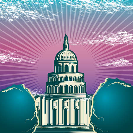the capitol: USA capitol building Illustration