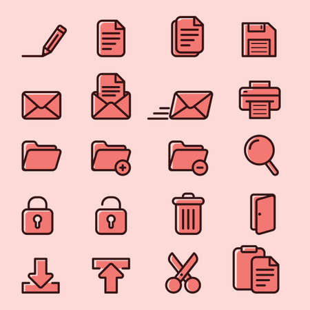 floppy drive: Collection of computer icons Illustration