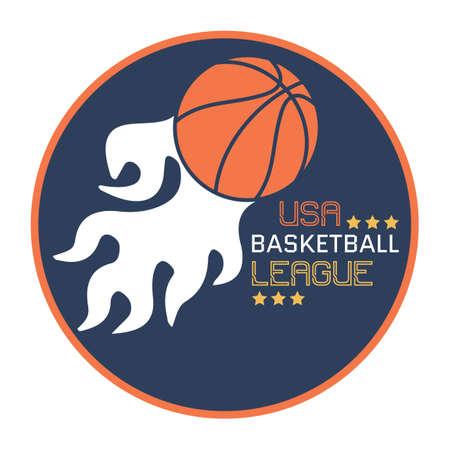 league: Basketball league sticker Illustration