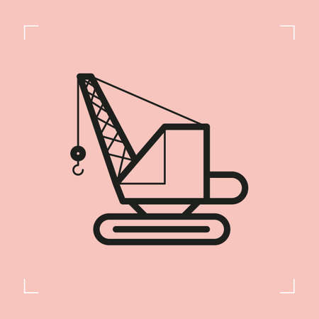 crawler: Excavator crane Illustration