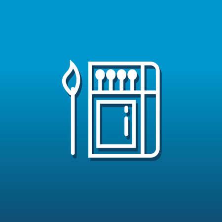 caja de cerillas: Matchbox y partidos Vectores