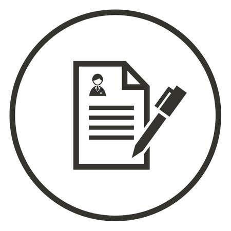 Zakelijke contract icoon Stock Illustratie