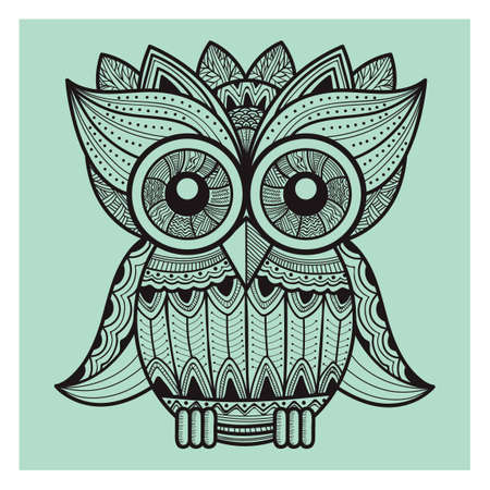 wise owl: intricate owl design