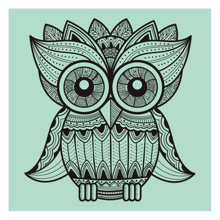 night owl: intricate owl design