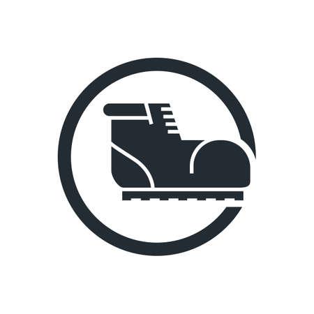 calzado de seguridad: Botas de seguridad icono Vectores