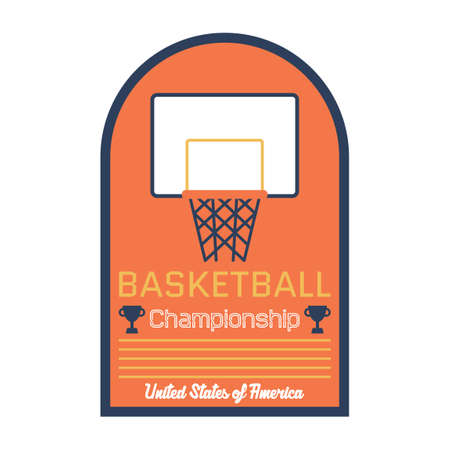 championship: Basketball championship sticker Illustration