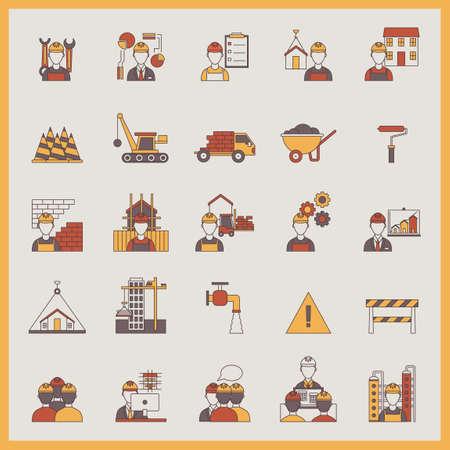 steel beam: Construction icons Illustration