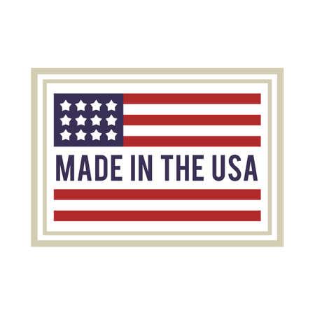 Made in USA štítku Ilustrace