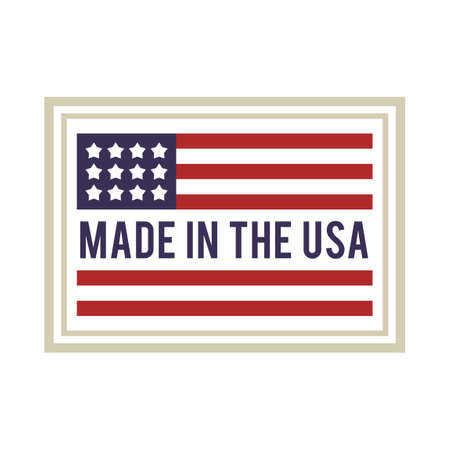 united states flag: Made in USA label