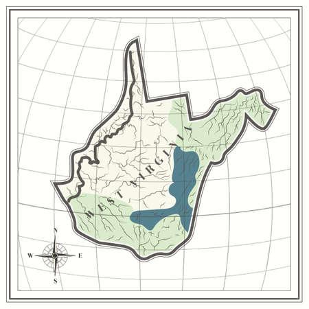 virginia: Map of west virginia state