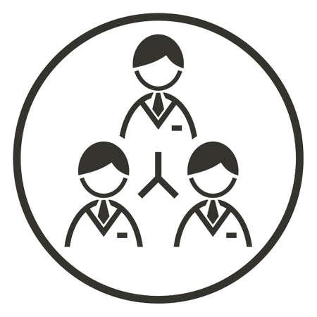 jerarquia: Icono de la jerarquía corporativa