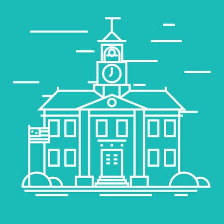 building: School building Illustration