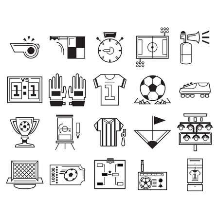 dressing room: Set of soccer icons Illustration