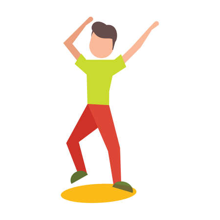 dance pose: Boy striking dance pose