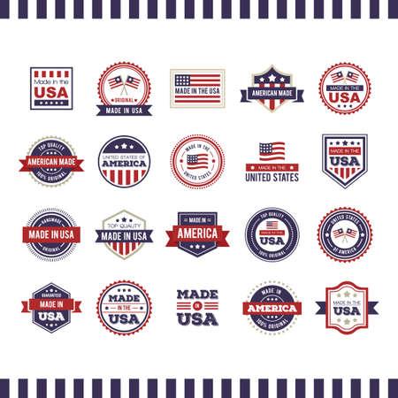Made in USA etichette collezione Archivio Fotografico - 43301480
