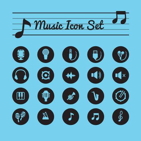 high volume: Music icon set