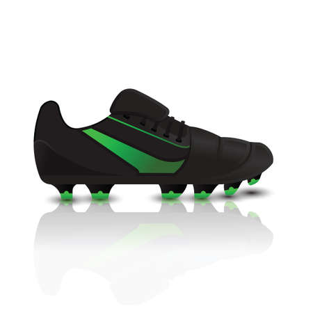 spiked: Spiked football boot Illustration