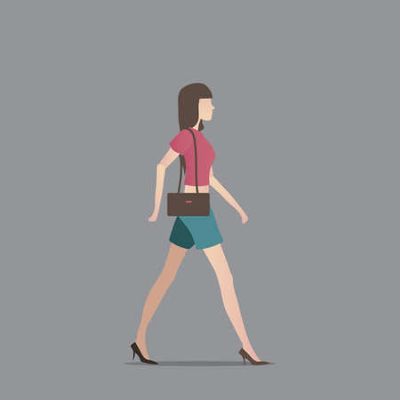 fashionable woman: Fashionable woman with handbag