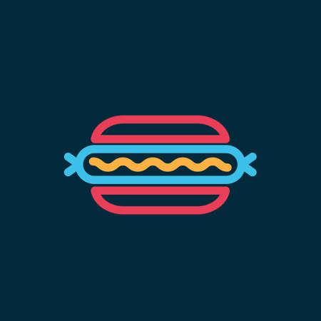Hot dog Ilustracja