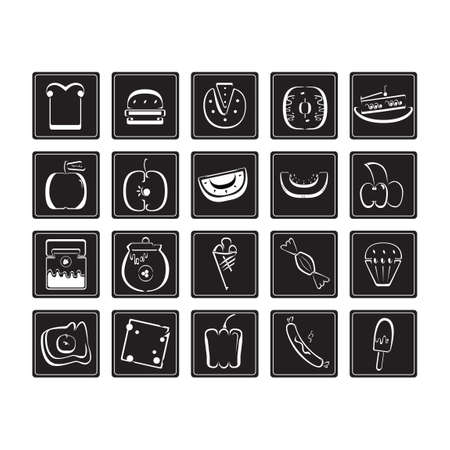 toffee: Set of food icons