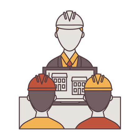 formalwear: Ingeniero presenta plan para trabajadores de la construcci�n Vectores
