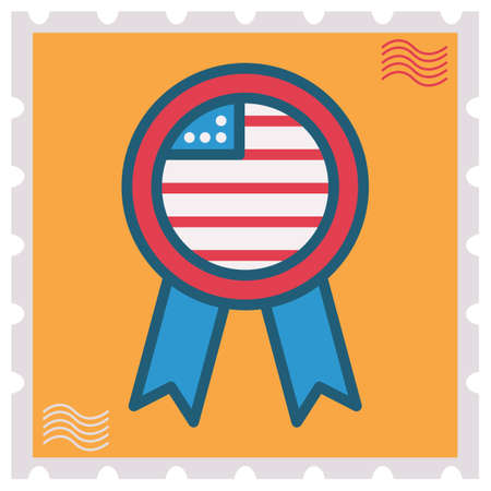 rosette: Stamp with USA rosette