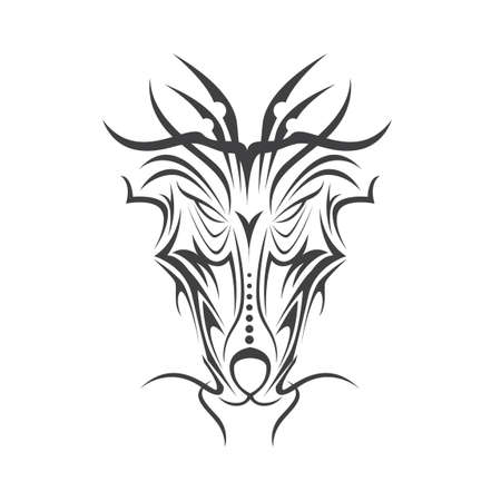 line drawings: Tribal tattoo
