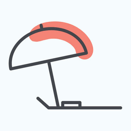 lounger: Beach parasol and lounger Illustration
