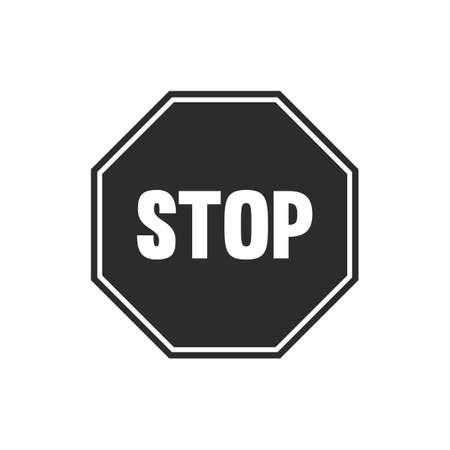 Arrêtez le signe carte Banque d'images - 43260975