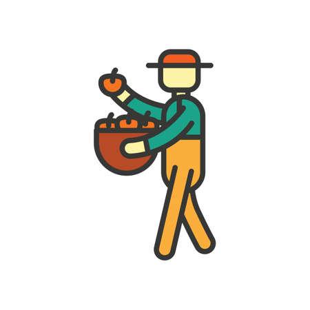 man side view: Farmer Illustration