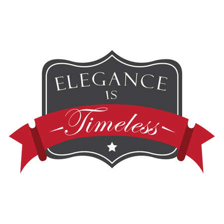 timeless: Elegance is timeless label