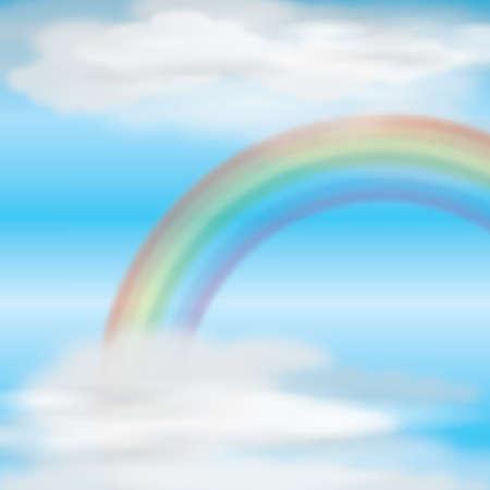 rainbow sky: Rainbow in sky